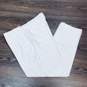 Polo Ralph Lauren White w/ Black Pinstripe Pants